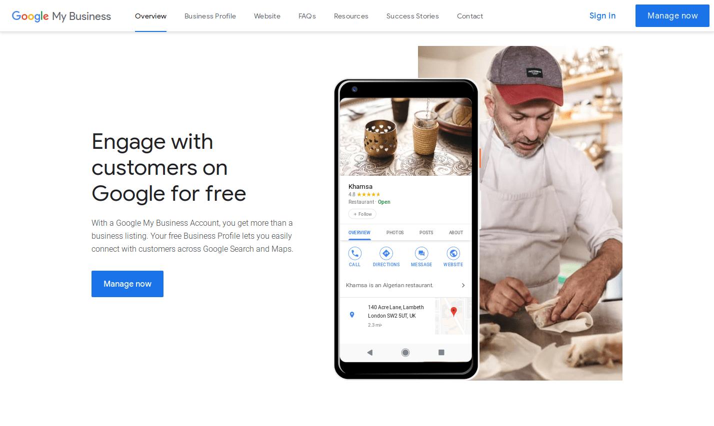 Googl My Business Website
