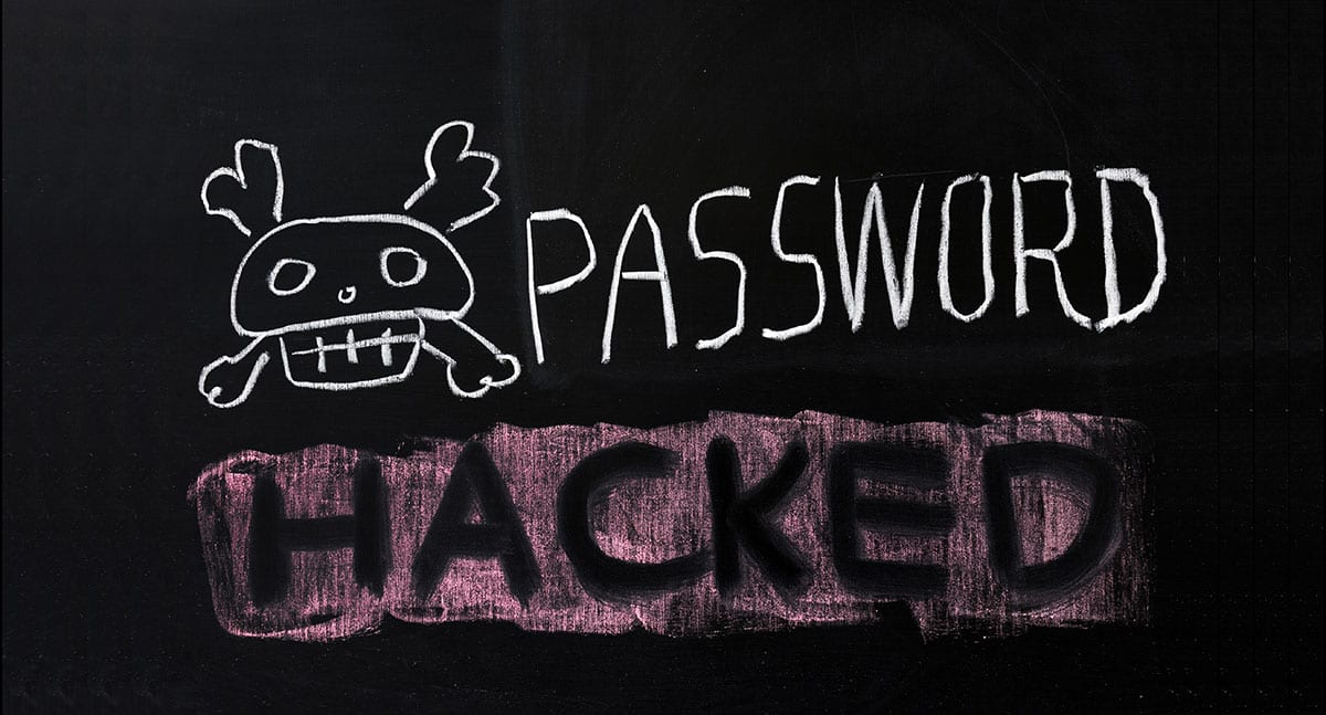 Password hacked image