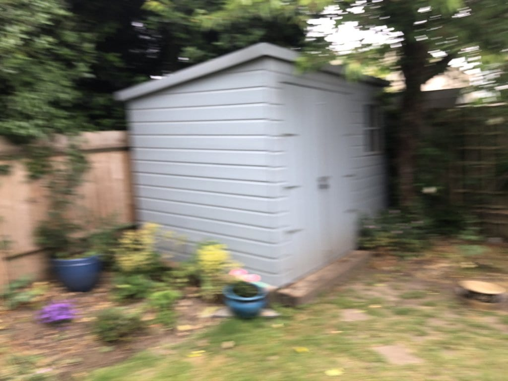 My Shed - blurry image