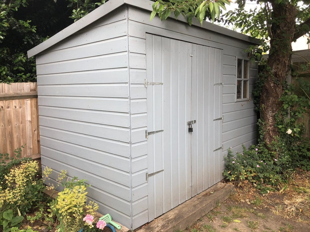 A photo of my shed - up close