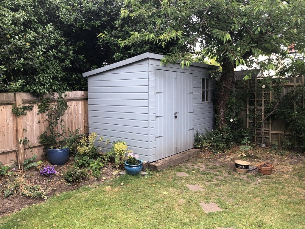 A photo of my shed from a distance