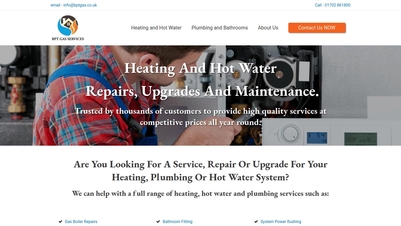 BPT Gas Services website